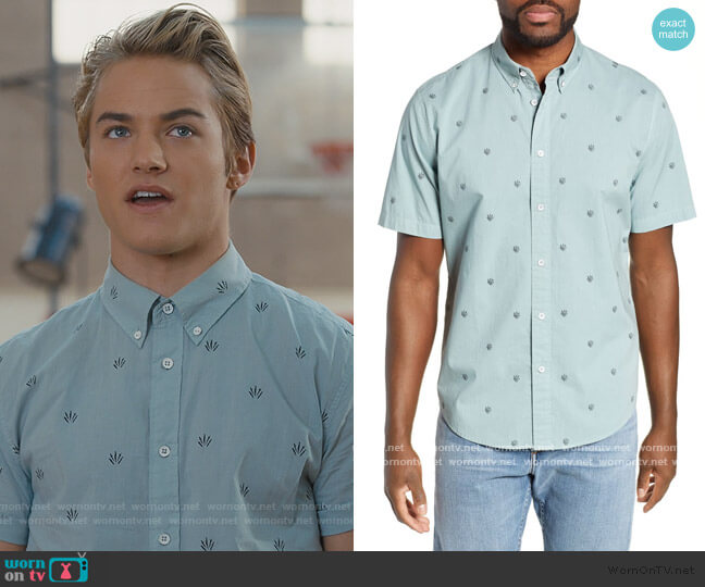 Fit 2 Tomlin Dagger Slim Fit Sport Shirt by Rag and Bone worn by Mac Morris (Mitchell Hoog) on Saved By The Bell