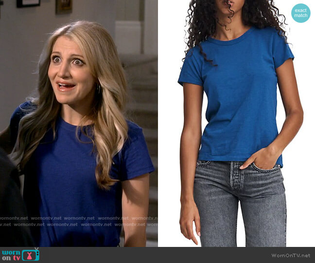 Rag & Bone The Slub Pima Cotton T-Shirt worn by Gina Dabrowski (Annaleigh Ashford) on B Positive