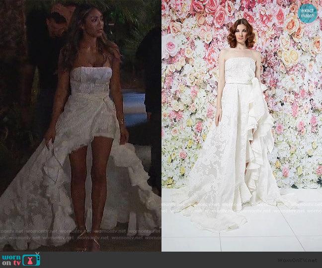 Spring 2019 Bridal Collection by Randi Rahm worn by Tayshia Adams  on The Bachelorette