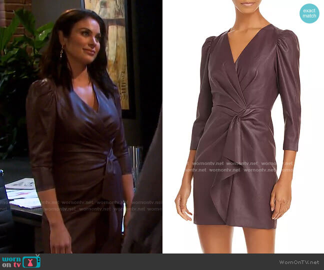 Vegan Leather Dress by Rebecca Taylor worn by Chloe Lane (Nadia Bjorlin) on Days of our Lives