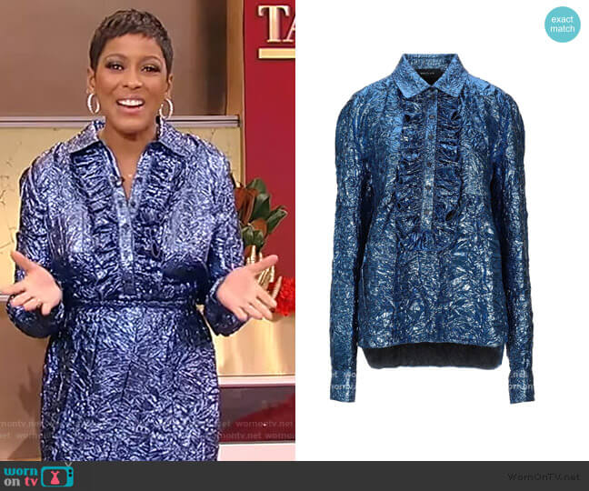 Blouse by Rochas worn by Tamron Hall  on Tamron Hall Show