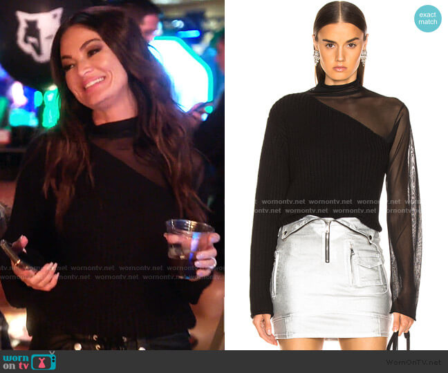 Franny Sweater by RTA worn by Lisa Barlow  on The Real Housewives of Salt Lake City
