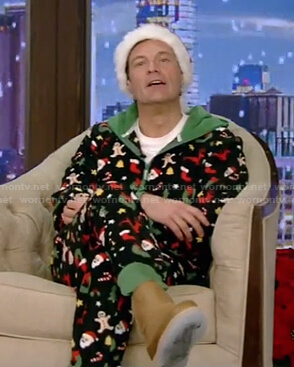 Ryan's cristmas onesie on Live with Kelly and Ryan