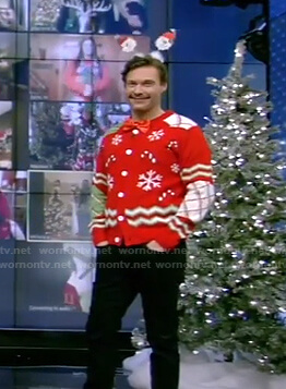 Ryan's ugly christmas sweater on Live with Kelly and Ryan