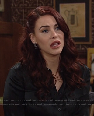 Sally's black button down shirt on The Young and the Restless