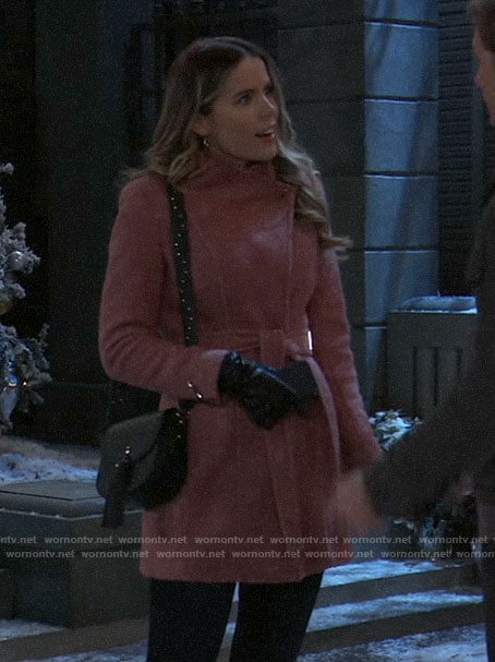 Sasha's pink coat on General Hospital