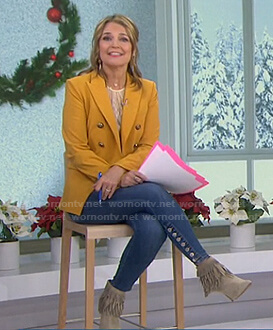 Savannah's yellow blazer and jeans on Today