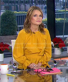 Savannah's yellow keyhole blouse on Today