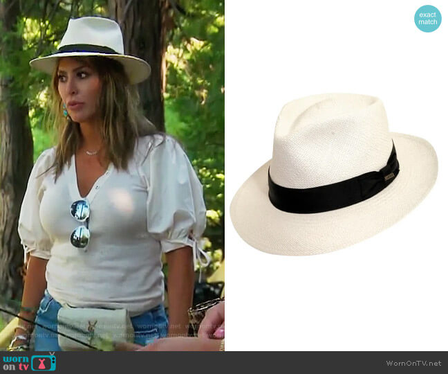 Straw Panama Hat by Scala worn by Kelly Dodd  on The Real Housewives of Orange County