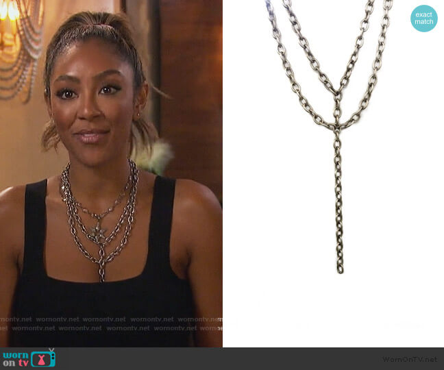 Chunky Funky Necklace by Shalla Wista worn by Tayshia Adams  on The Bachelorette