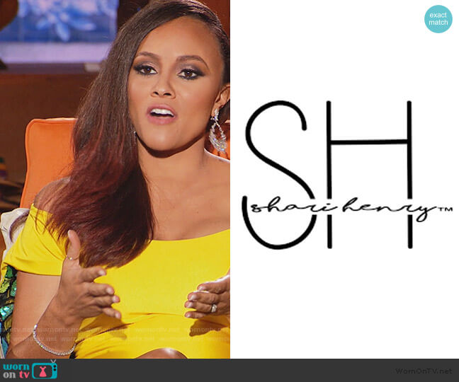 Custom Dress by Shari Henry worn by Ashley Darby  on The Real Housewives of Potomac