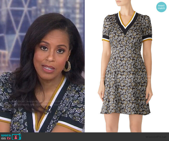 Varsity Trim Floral Dress by Slate & Willow worn by Sheinelle Jones  on Today