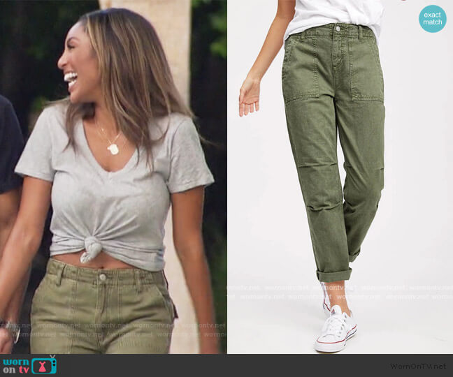 Austin Relaxed Surplus Pant by Socialite worn by Tayshia Adams  on The Bachelorette