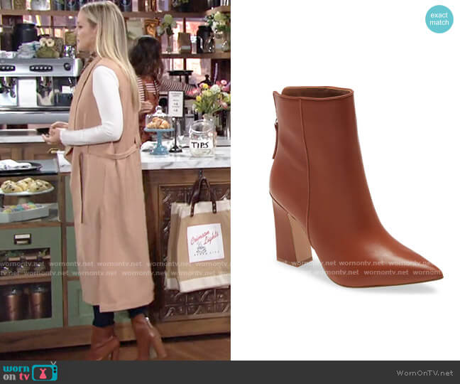 Steve Madden Sasa Boots worn by Sharon Collins (Sharon Case) on The Young & the Restless