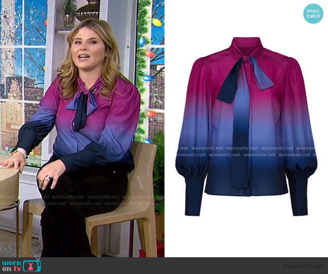 Susan Ombre Top by Tanya Taylor worn by Jenna Bush Hager  on Today