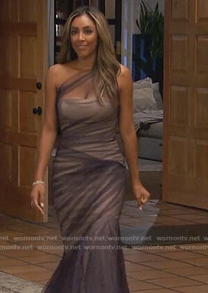 Tayshia's purple tulle gown on The Bachelorette