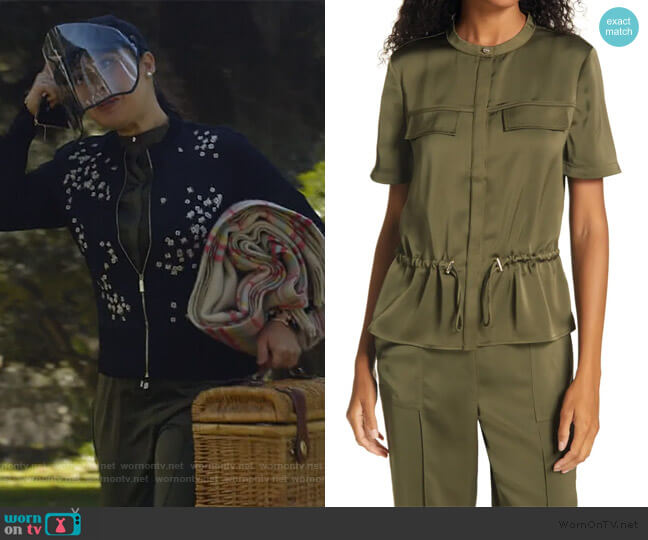 Ayvaa Blouse and Pants by Ted Baker worn by Sherri Kansky (Ruthie Ann Miles) on All Rise