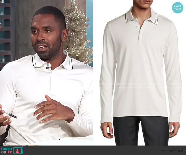 Sartorial Polo Shirt by Theory worn by Justin Sylvester  on E! News