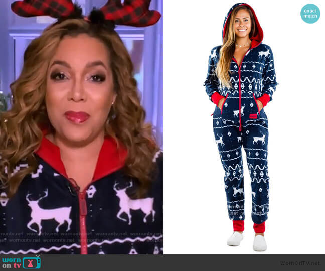 Blue Reindeer Jumpsuit by Tipsy Elves worn by Sunny Hostin  on The View