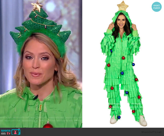 Tree Time Jumpsuit by Tipsy Elves worn by Sara Haines  on The View