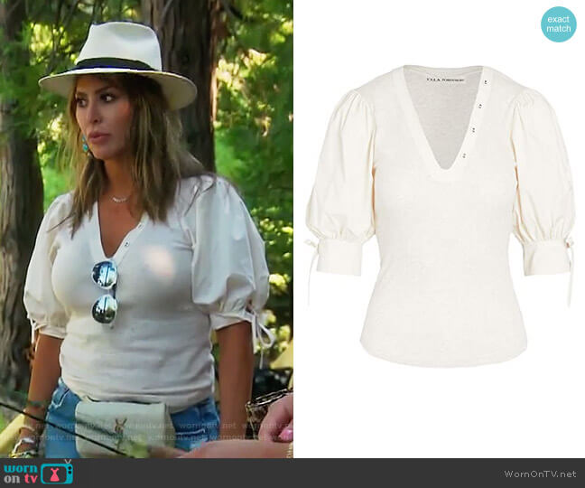 Pia Top by Ulla Johnson worn by Kelly Dodd  on The Real Housewives of Orange County