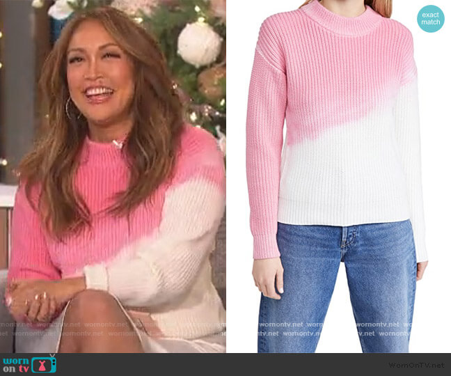 Ranch Road Tie Dye Sweater by Veda worn by Carrie Inaba  on The Talk