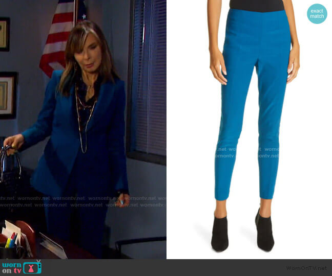 Honolulu High Waist Pants by Veronica Beard worn by Kate Roberts (Lauren Koslow) on Days of our Lives