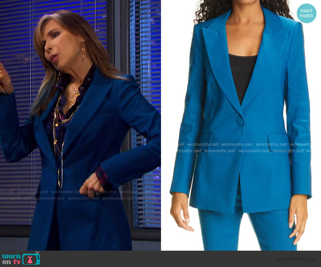 Long & Lean Dickey Jacket by Veronica Beard worn by Kate Roberts (Lauren Koslow) on Days of our Lives