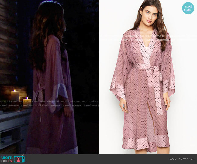 Victorias Secret Long Kimono Robe worn by Steffy Forrester (Jacqueline MacInnes Wood) on The Bold & the Beautiful