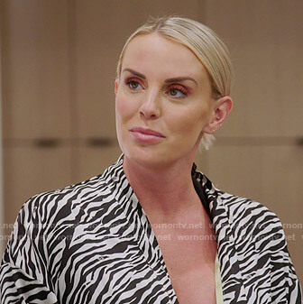 Whitney's zebra print robe on The Real Housewives of Salt Lake City
