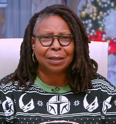 Whoopie's Star Wars Yoda Christmas sweater on The View
