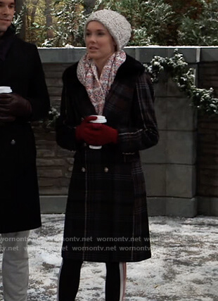 Willow's plaid shearling coat on General Hospital