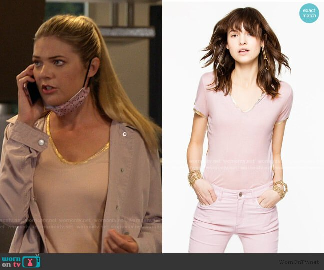 Tino Foil Tee by Zadig & Voltaire worn by Tami Tamietti (Kate Miner) on Shameless