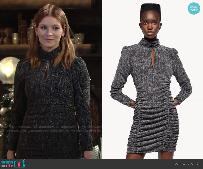 Dress with Metallic Thread by Zara worn by Jordan (Madison Thompson) on The Young & the Restless