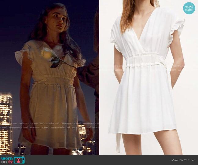 Zara Bow Waist Dress worn by Cassie Shore (Anna Maiche) on Tiny Pretty Things