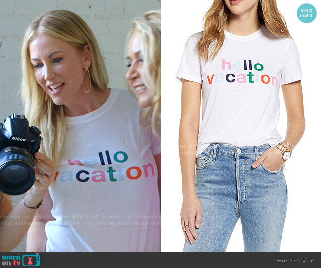 Vacation Graphic Tee by 1901 worn by Stephanie Hollman  on The Real Housewives of Dallas