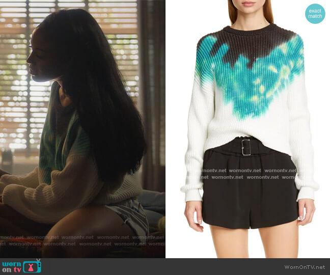 Elinor Sweater by A.L.C. worn by Rochelle (Raigan Harris) on Grown-ish