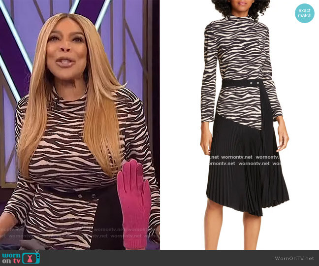 Peyton Dress by A.L.C. worn by Wendy Williams  on The Wendy Williams Show