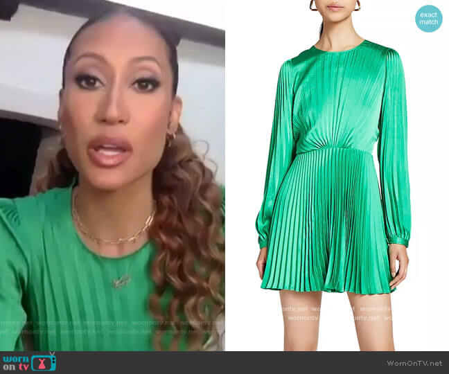Tavi Pleated Mini Dress by A.L.C. worn by Elaine Welteroth  on The Talk