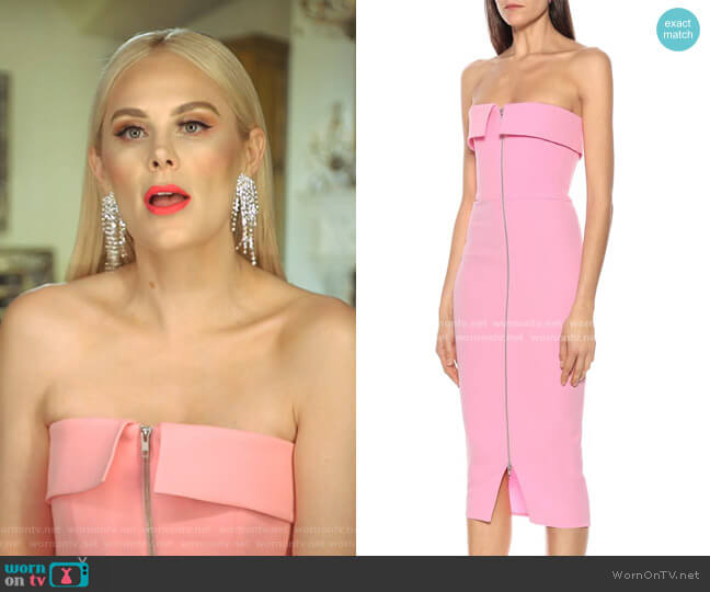Moore Midi Dress by Alex Perry worn by Kameron Westcott  on The Real Housewives of Dallas