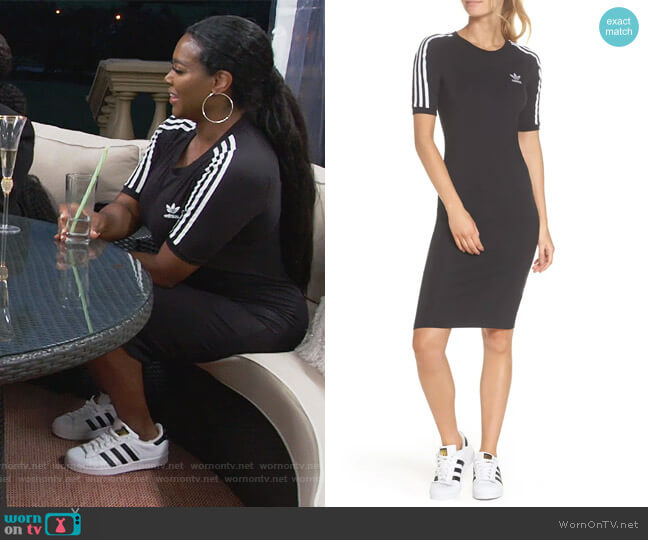Adidas 3-Stripes Dress by Adidas worn by Kenya Moore  on The Real Housewives of Atlanta
