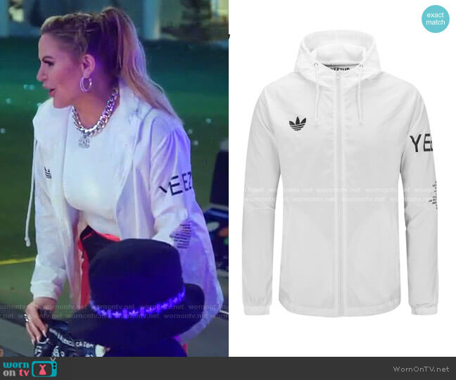 Yeezus Tour Windowbreaker by Adidas worn by Heather Gay  on The Real Housewives of Salt Lake City