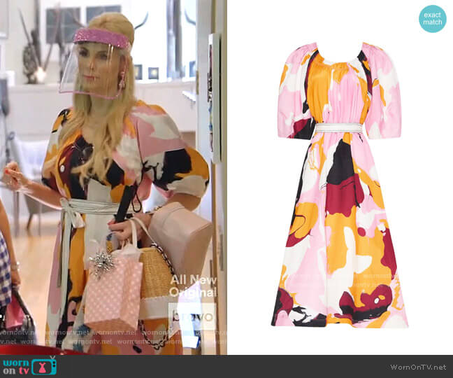 Psychedelia Midi Smock Dress by Aje worn by Kameron Westcott  on The Real Housewives of Dallas