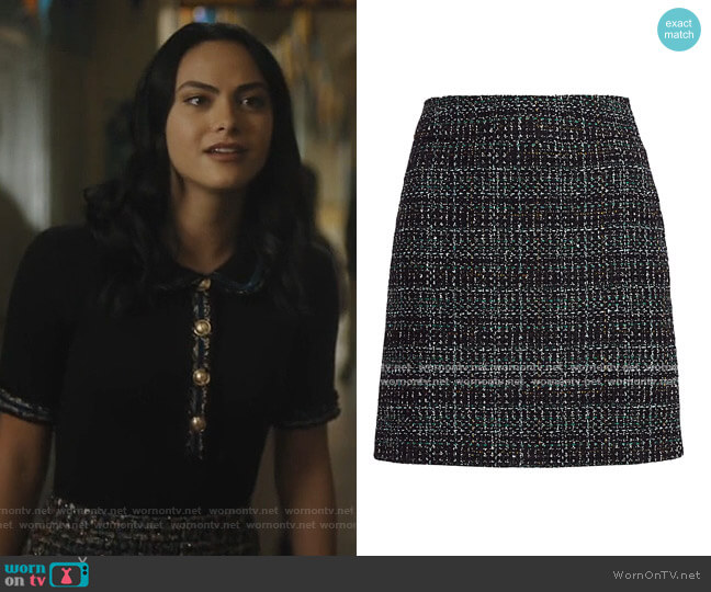 Tweed Pencil Skirt by Akris Punto worn by Veronica Lodge (Camila Mendes) on Riverdale