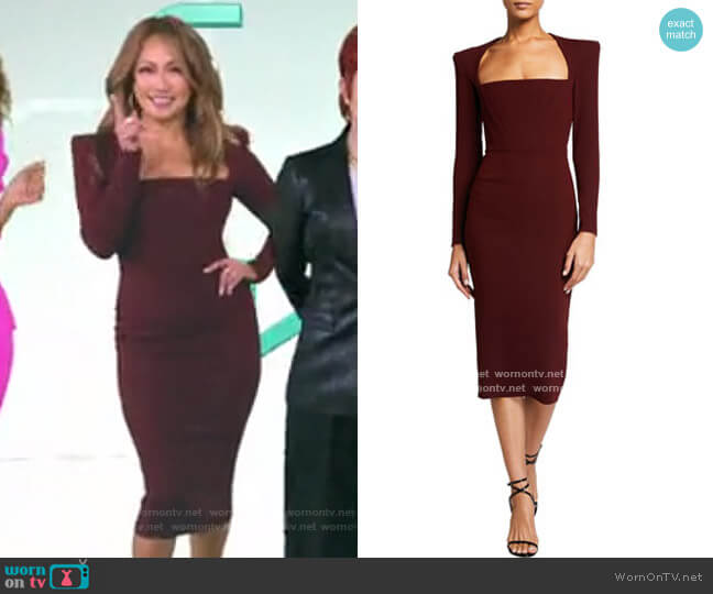Square Neck Dress by Alex Perry worn by Carrie Inaba  on The Talk