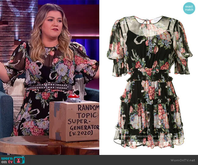 Pretty Things Mini Dress by Alice McCall worn by Kelly Clarkson  on The Kelly Clarkson Show