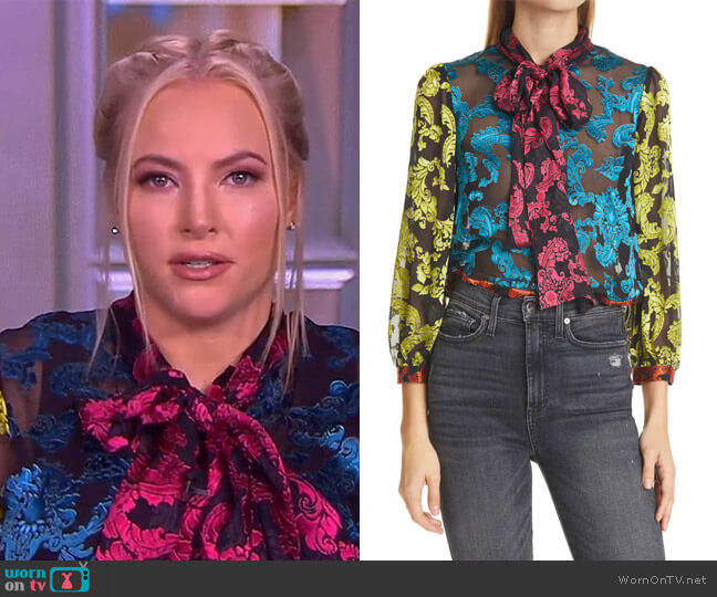 Jeannie pussy-bow collar blouse by Alice + Olivia worn by Meghan McCain  on The View