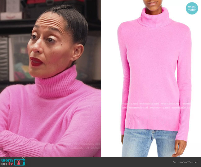 Cashmere Turtleneck Sweater by Aqua Cashmere worn by Rainbow Johnson (Tracee Ellis Ross) on Blackish