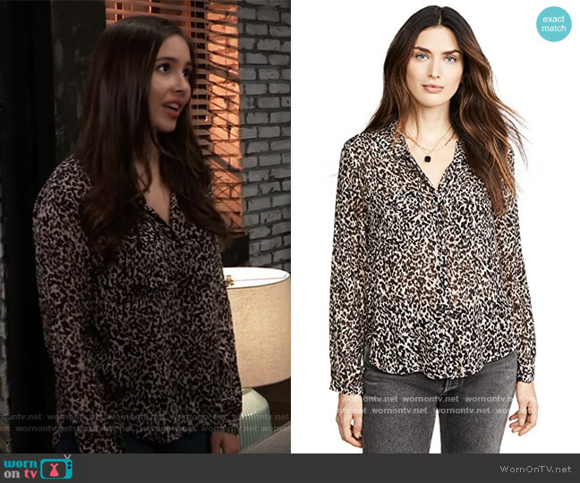 Hipster Shirt by Bella Dahl worn by Molly Lansing-Davis (Haley Pullos) on General Hospital