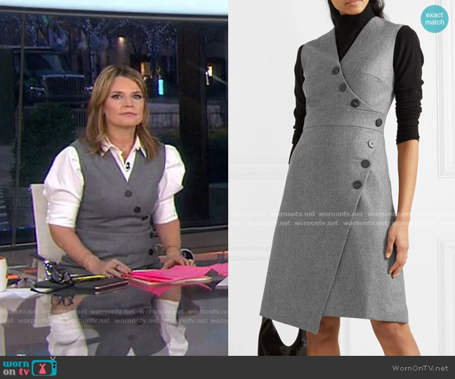 Blake Wrap-Effect Dress by Cefinn worn by Savannah Guthrie  on Today
